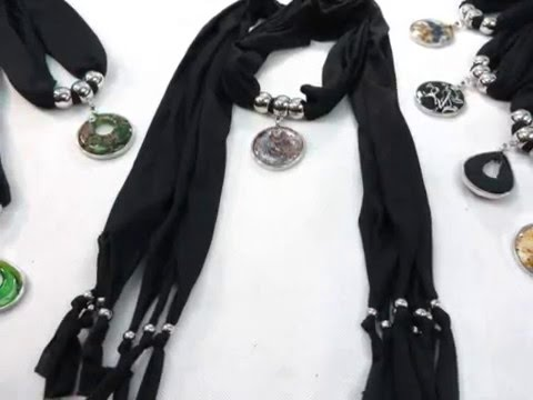handcrafted-glass-pendant-black-scarf-necklace-wholesale-accessories-wholesalesarong.com