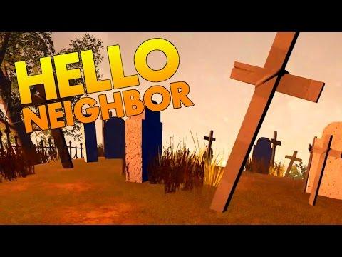 Secret Cemetary and Exploring the Hidden Basement! - Hello Neighbor Alpha 2 Gameplay