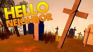 Secret Cemetary and Exploring the Hidden Basement! - Hello Neighbor Alpha 2 Gameplay