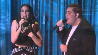 Jessie J and Tom Bleasby singing Flashlight