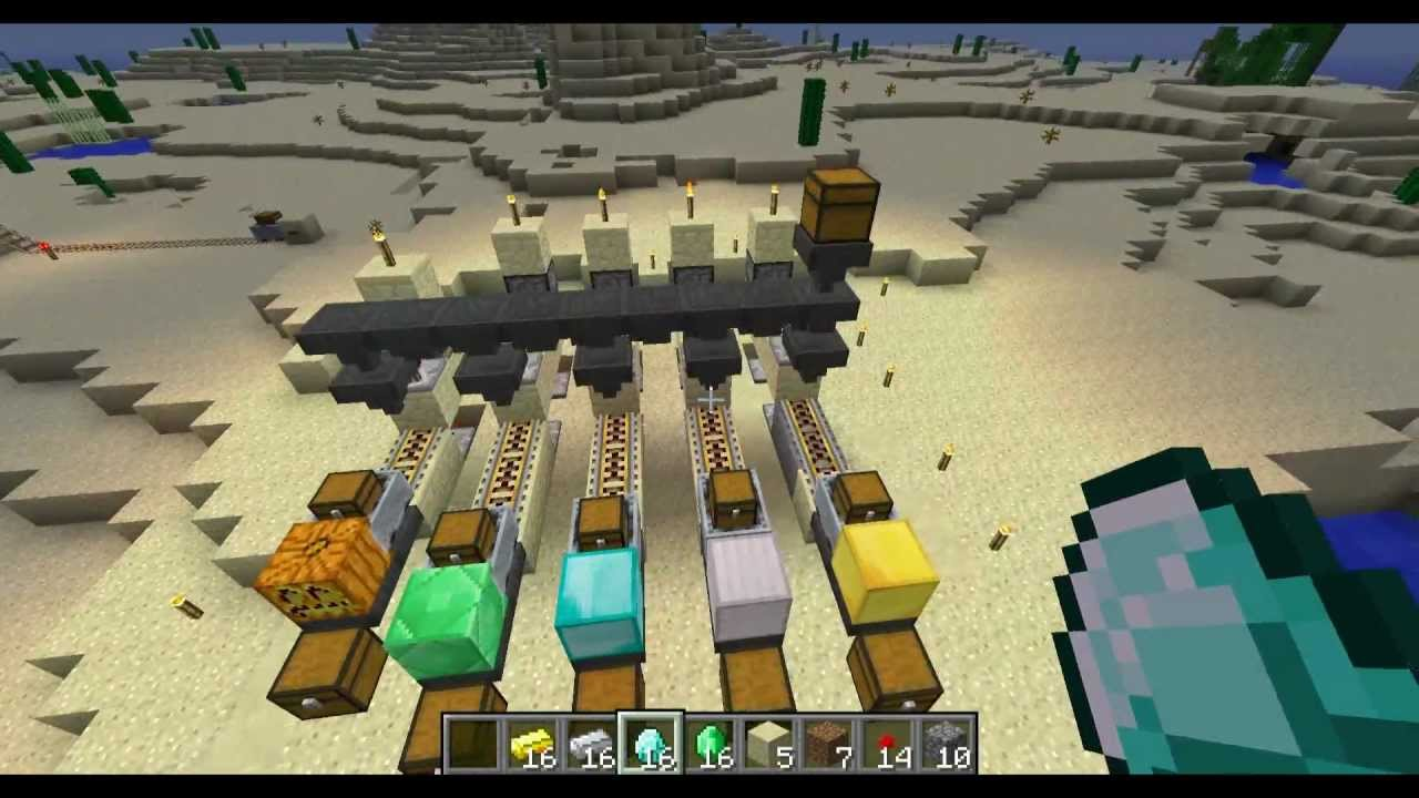Minecraft Rail System How Should I Design A Powered Station Arqade Tutorial Item Sorting And Delivery Youtube 1280x720
