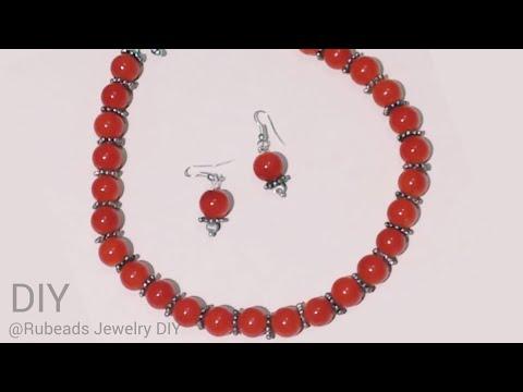DIY Glass Beads Choker Necklace | Basic Handmade Jewellery Making