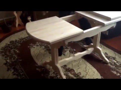 Деревянный раздвижной стол на заказ