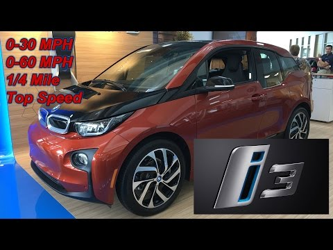 BMW i3 Top Speed and Performance Testing, 0-30 MPH , 0-60 MPH, 1/4 Mile Drag Racing