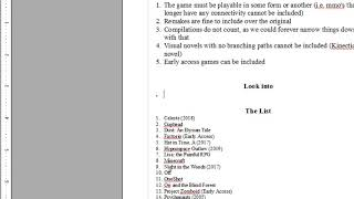 Creating our own 1001 Video Games You Must Play List (1/3)