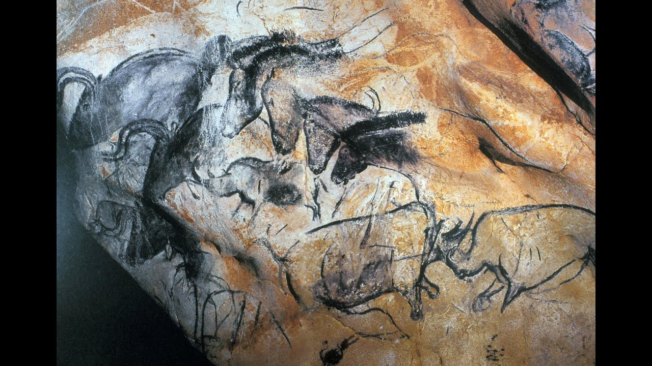 Wall Painting With Horses Rhinoceroses And Aurochs