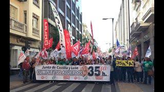 Empleados públicos reclaman en Valladolid las 35 horas