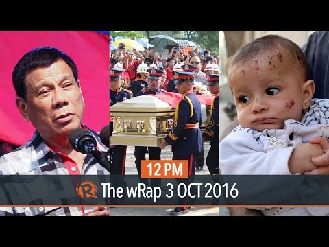 Duterte on Hitler, Santiago burial, Syria rescue | 12PM wRap
