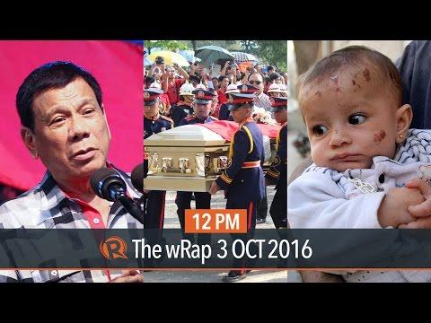 Duterte on Hitler, Santiago burial, Syria rescue | 12PM wRap