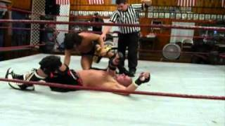 Match - Brandon Aarons -vs- Bailey Mannix / Leon Alexander (IHW Title Match) 9/11/10 Part 2