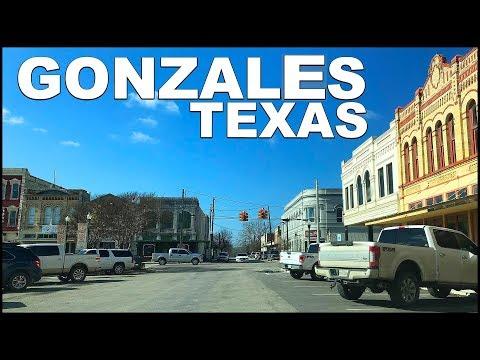 Gonzales TEXAS Downtown Tour