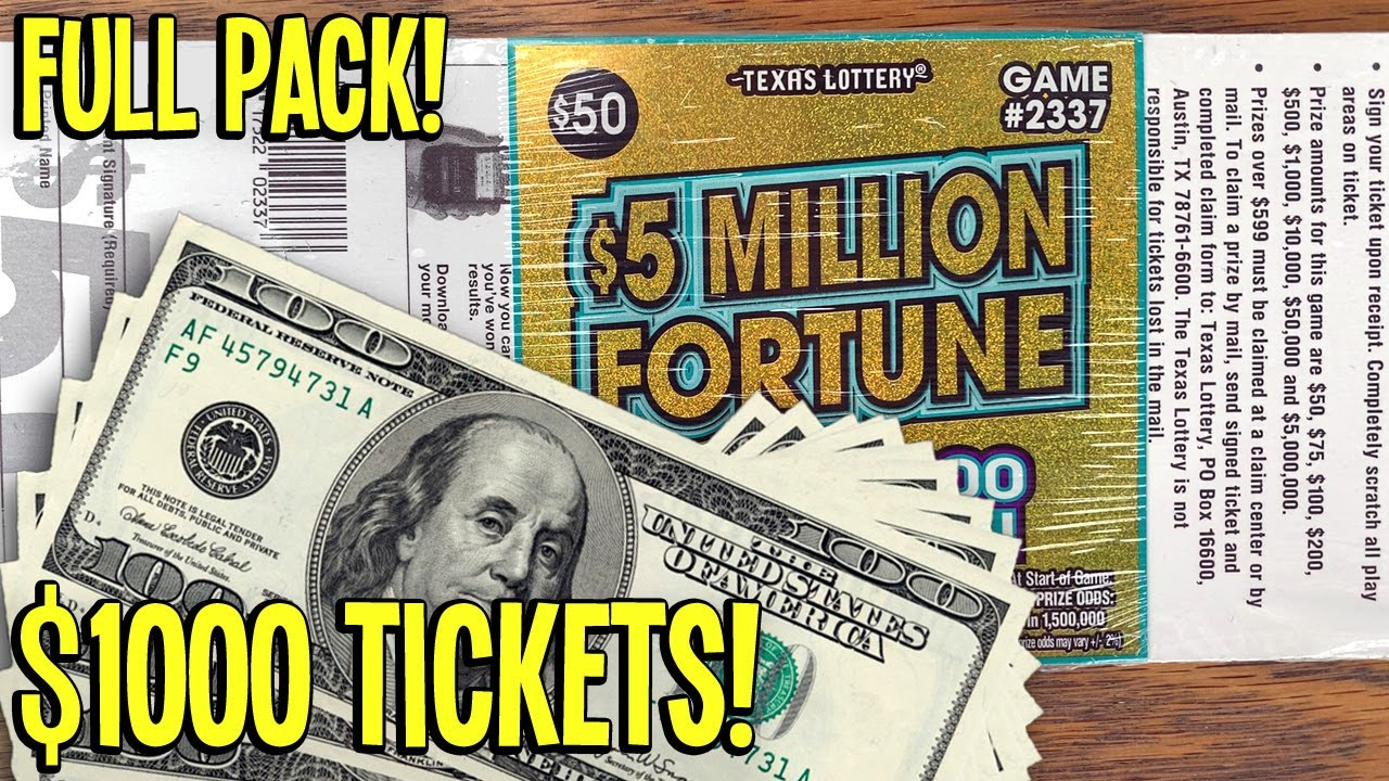 🤑 $1000 IN TICKETS! Double Multipliers **FULL PACK** $5 Million Fortune 💰 TEXAS LOTTERY Scratch Offs