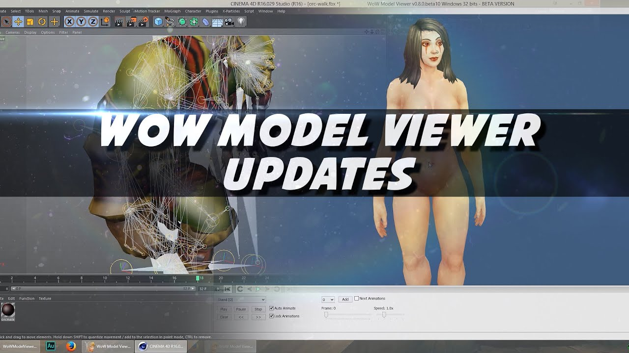 Wow model viewer for wod updates psynaps youtube 3d model sites