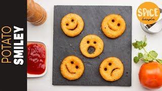 পটেটো ইমোজি   Potato Smiley Recipe   Emoji Recipe   Snacks Recipe Bangla   Nasta Recipe Bangla
