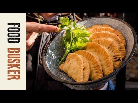 Brazilian Pastel de Palmito    Food Busker