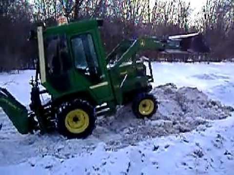 John Deere 755 Tractor Backhoe