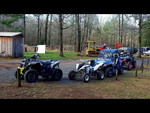 ATV Riding at Fourche Mountain Near Wolfpen Gap, Arkansas. Scrambler 1000.