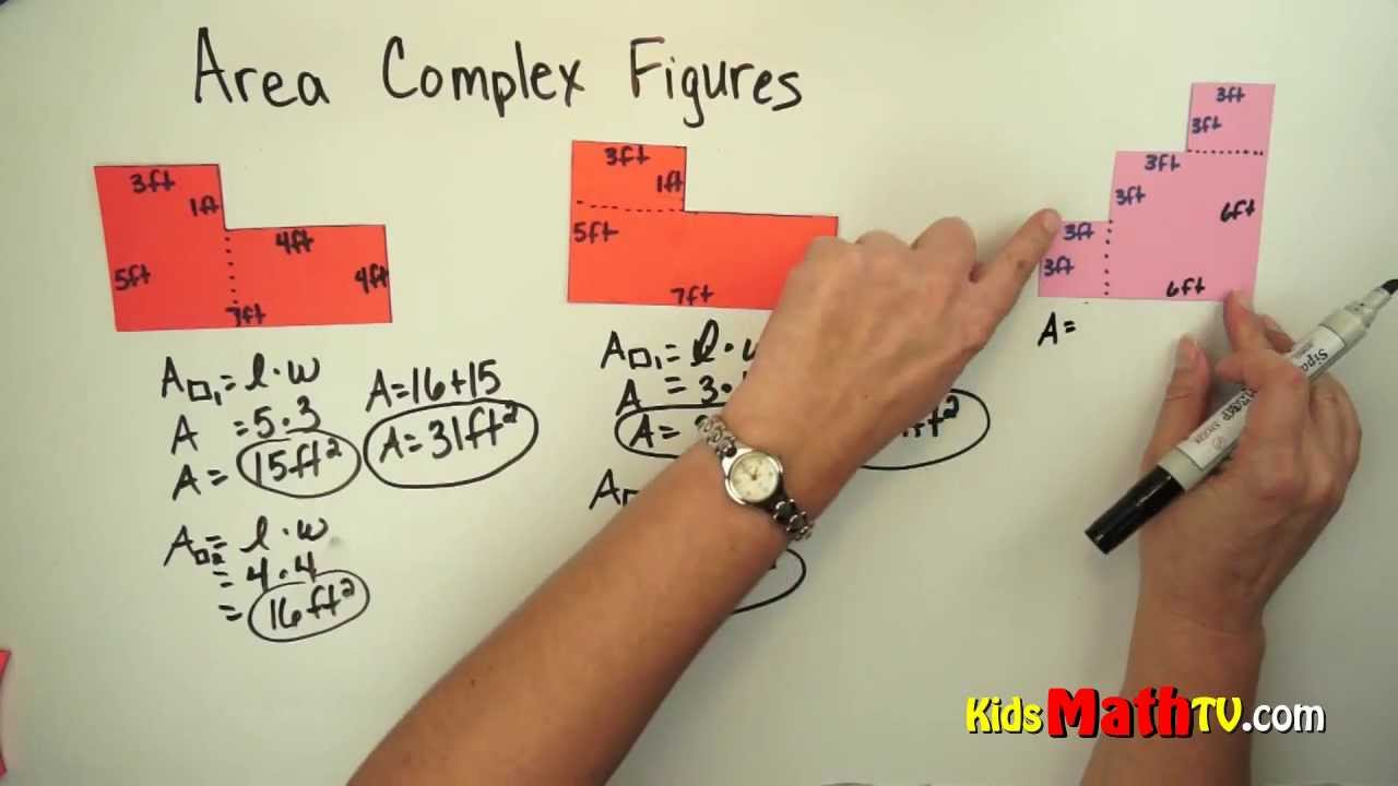 How To Find The Area Of Aplex Figure, Video For 3rd To 5th Grades