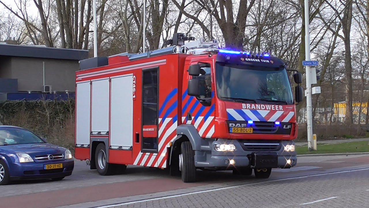 Groene Tuin Rotterdam : Nieuwe ct brandweer groene tuin met spoed naar een melding