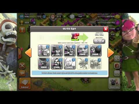 Clash Of Clans Oynuyoruz #28: 200 Asker!