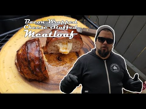 Bacon Wrapped Cheese Stuffed Meatloaf Video