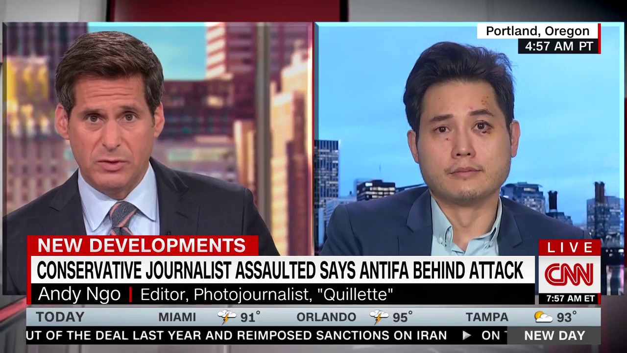 CNN—Andy Ngo Speaks About Antifa Beating
