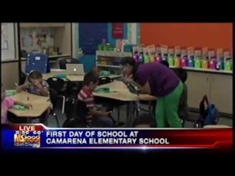 First Day of School at Camarena Elementary School on KUSI's Good Morning San Diego -8:30 AM