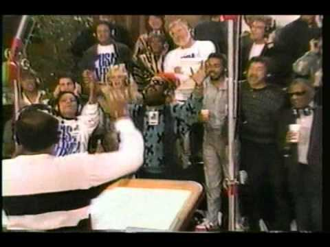 STEVE ON CH  4 TV  1985 WE ARE THE WORLD