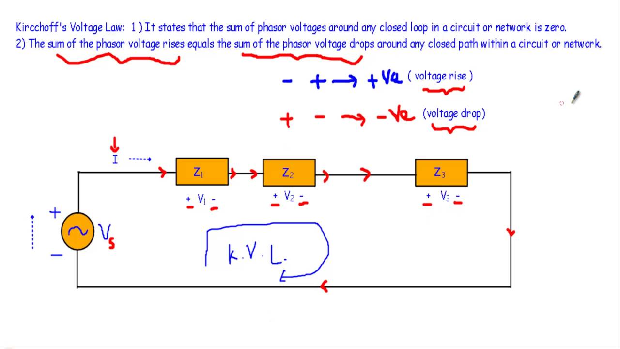 Kircchoffs laws kvl kcl in phasor form youtube kircchoffs laws kvl kcl in phasor form pooptronica Gallery