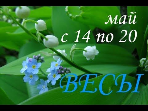ВЕСЫ. ТАРО-ПРОГНОЗ на НЕДЕЛЮ с 14 по 20 МАЯ 2018г.