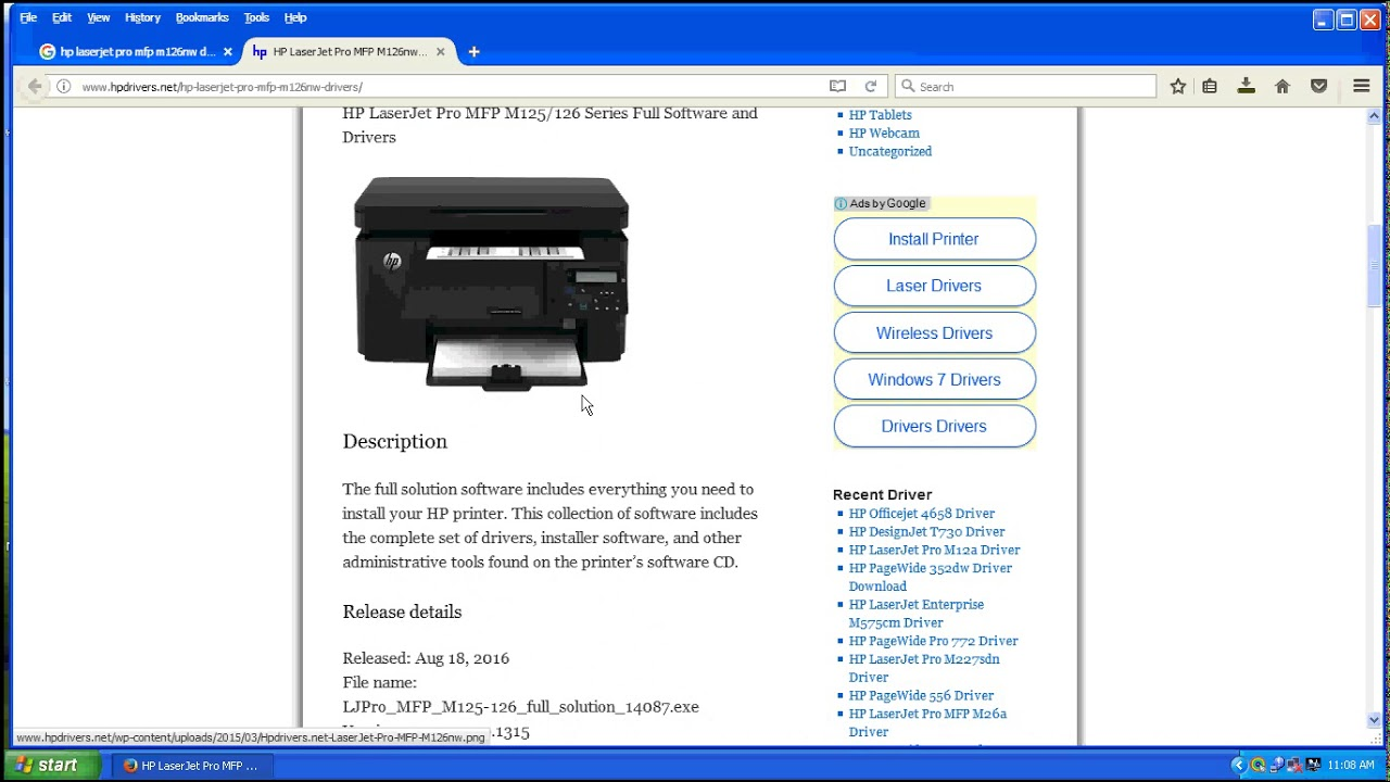How to install hp laserjet pro mfp m125a youtube.