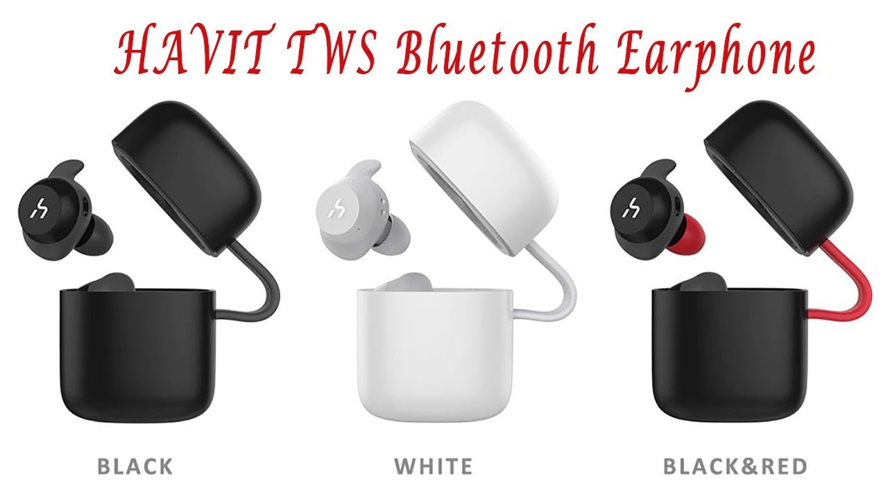 5c6ddee7572 HAVIT G1 TWS Bluetooth Earphone True Wireless Sport Earphone - YouTube