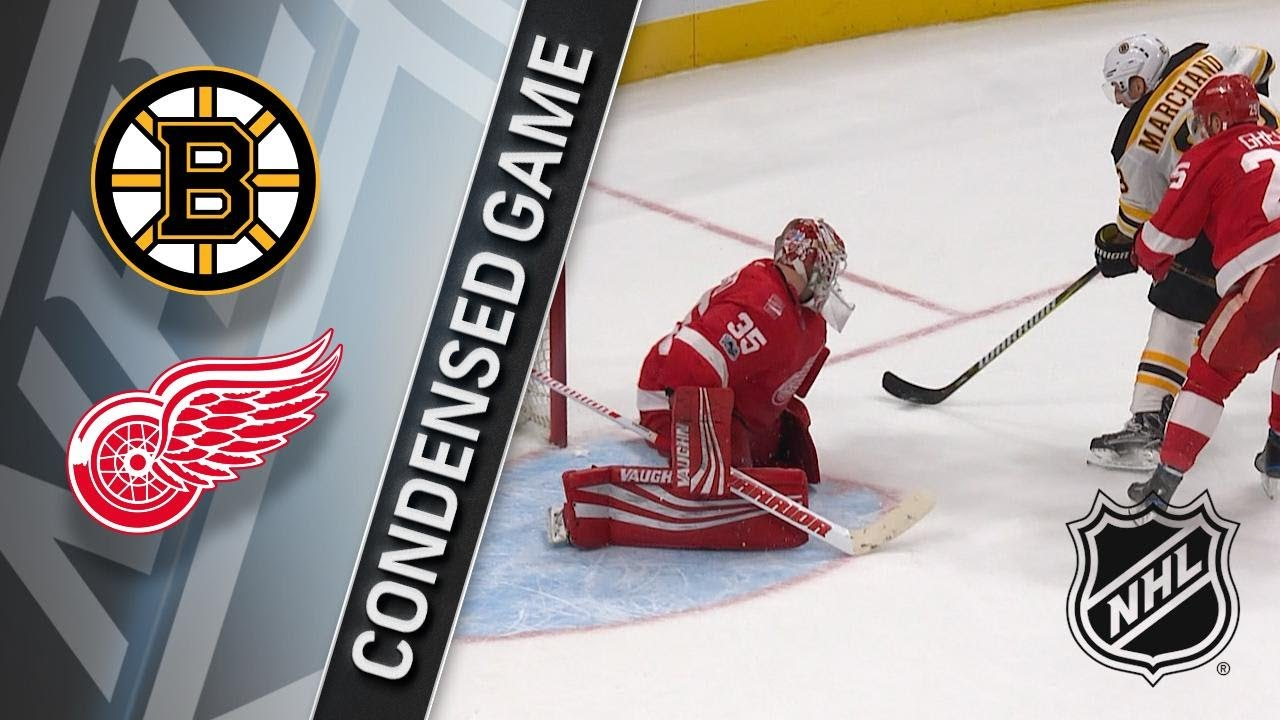 Red Wings fight back but fall to Bruins in OT