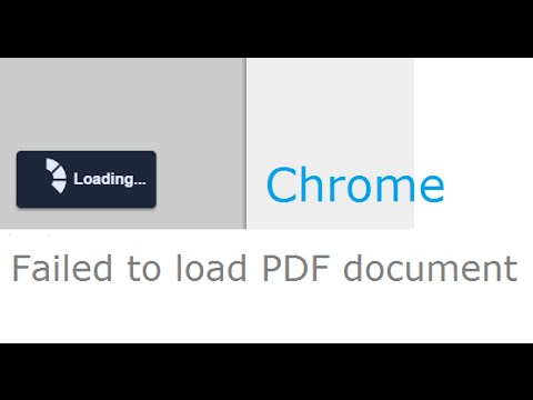 Chrome Browser Failed to load PDF document