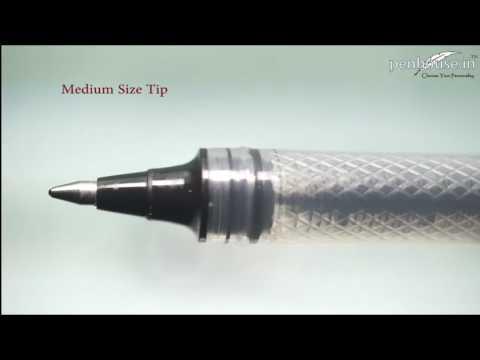 Uni – ball Vision Elite – UB 200 – Black Color Ink Silver color clip Cap Type pen Model: 11181
