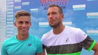 Michael Vrbenský a Jan Mertl po porážce v semifinále deblu Rieter Open Pardubice 2018