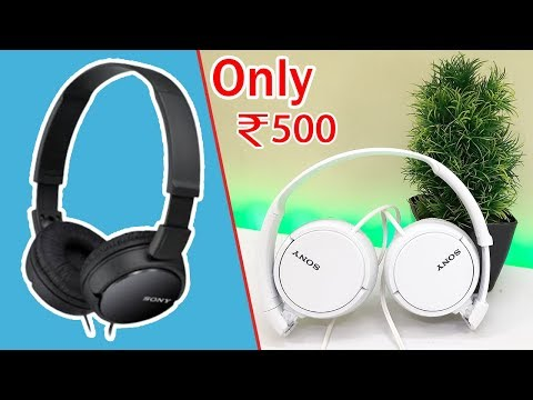 Headphones Under 600 | Sony ZX110A Unboxing & Review