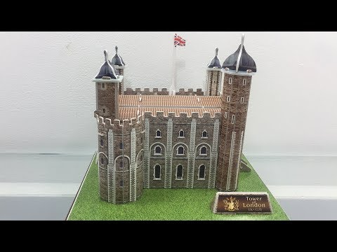 DIY Miniature Tower Of London ~ 3D Paper Super Puzzle