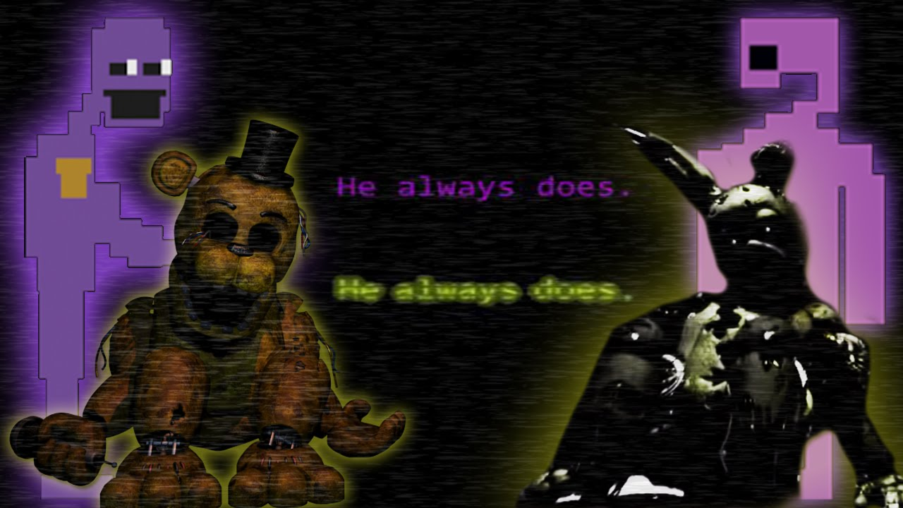 Golden freddy and spring trap the links with purple and gold why