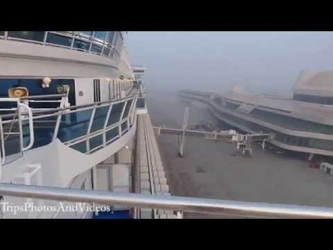 China Tianjin Cruise Port and Terminal Disembarkation
