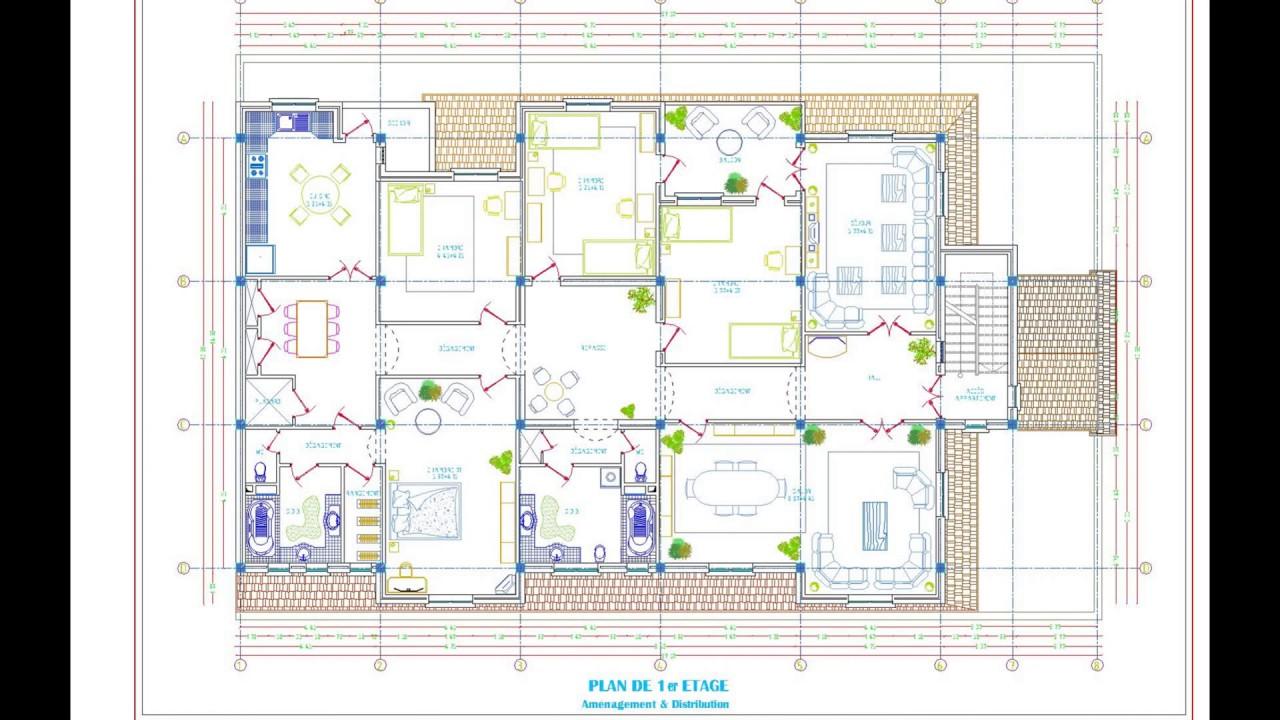 Plan D Une Maison En R 2 Et Rdc Commerce Youtube