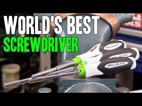 WORLD'S BEST SCREWDRIVER!!  Rolgear 15-in-1 & bit drivers!  MADE IN CANADA