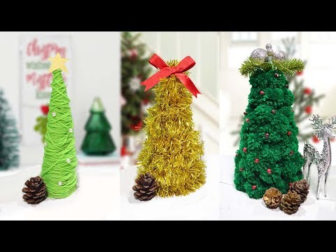 3 Cheap Tabletop Christmas Tree Decorations| How To Make Tabletop Christmas Tree Cheap and Easy Way