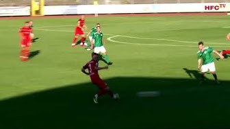 Kurzbericht vom Spiel: SG Union Sandersdorf - Hallescher FC | Tore: Hansch, May und 2x Tuma