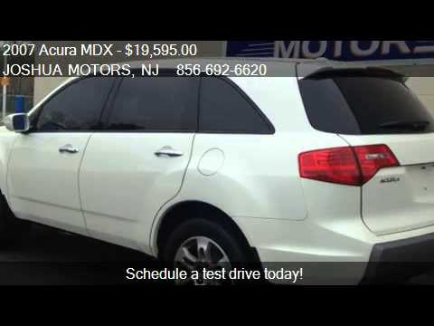 2007 acura mdx base for sale in vineland nj 08360 youtube for Joshua motors vineland nj