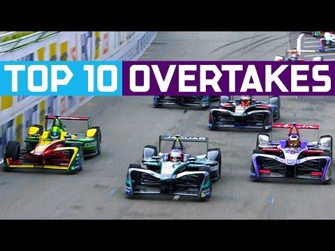Top 10 Overtakes In Formula E History! | ABB FIA Formula E Championship