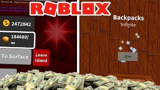 THE INFINITE MOCHILA 😱 22.000.000 💰 WTF! - ROBLOX TREASURE SIMULATOR
