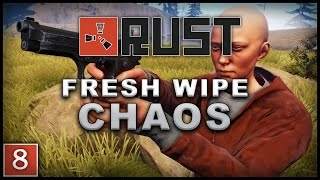 Rust - Solo Gameplay #8: Fresh Wipe Chaos