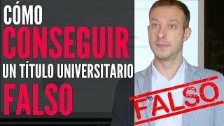 Cómo Conseguir un Título Universitario Falso (entrevista en Equipo de Investigación en LaSexta)
