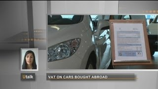 euronews U talk - What VAT is due when buying a car?